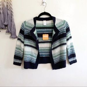 Gymboree • girls knit striped waterfall cardigan